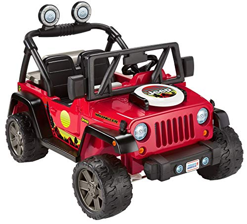 Fisher-Price Power Wheels BBQ Fun Jeep Wrangler, 12V battery-powered ride-on vehicle
