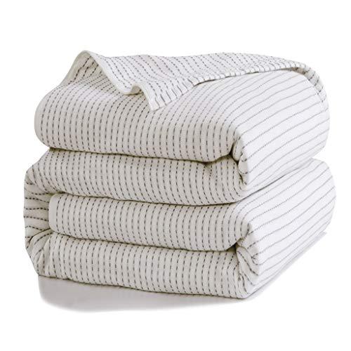Hcxbb-g Handdoek, katoen, airconditioning, deken, gewassen, slank geplooid, eenpersoons, dubbel, kantoor, nap blanket, katoen, volwassenen en kinderen zomerdeken