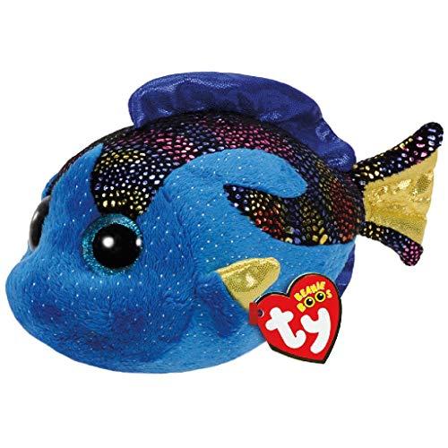 TY Aqua Blue Fish 37243 Fisch mit Glitzeraugen, Blau