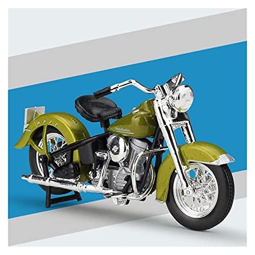 Boutique 1:18 Motocicleta De Aleación Simulación En Miniatura para Harley 1953 74FL Modelo Hydra Glide Colección De Adultos Regalo Coche De Juguete