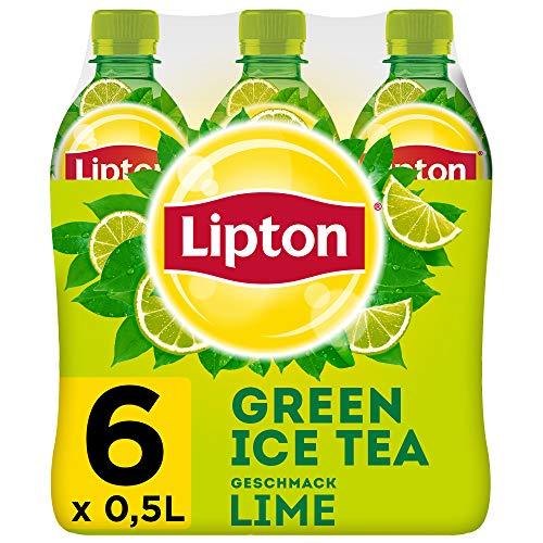 LIPTON ICE TEA Green Lime, Eistee mit Grüntee und Limetten Geschmack (6 x 0.5l)
