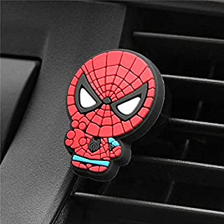 Car Air Freshener For Marvel Avengers Hero Figure Cute Decor Automobiles Perfume Smell Vent Clip Flavoring in Car Accessories (003)