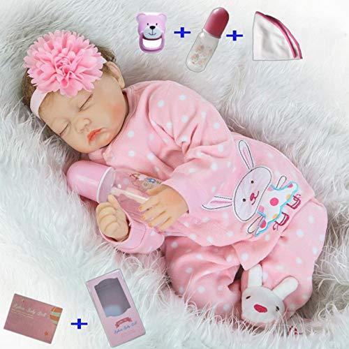 antboat 22 inches 55 cm Reborn Baby Dolls Girl Vinyl Soft Silicone Real Life Dolls Handmade Newborn Reborn Babies Boy and Girl Toys Toddler Sleeping Girls