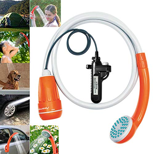 LUOOV Portable Camping Shower,Compact Handheld & Hands-Free Rechargeable Outdoor Shower Head