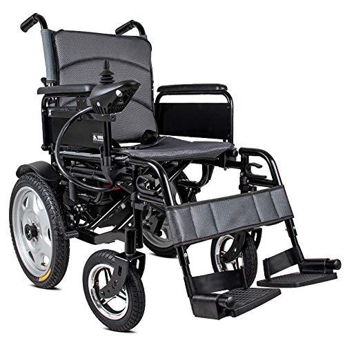 YOLANDE Silla de Ruedas eléctrica Anciano Coche discapacitado Ancianos Inteligente Automático Scooter...