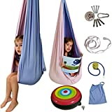 Stroller Trotter Sensory Swing Pod Swing - 2 in 1 Indoor Swing for Kids The 1ST Therapy Compression Swing That Becomes an Egg Chair or Kids Hammock Chair - Double Layer, Extra Strength, Reversible