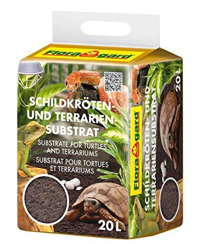 Floragard Schildkrötenerde und Terrariensubstrat 20 L, natürliche Einstreu für Reptilien