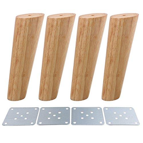 Patas de madera cónicas oblicuas para muebles de madera