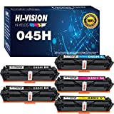 5-Pack HI-Vision Compatible 045 CRG-045H CRG-045 045H Toner Cartridge Replacement for Color ImageCLASS MF634Cdw MF632Cdw LBP612Cdw MF634 MF632 Printer (2BK/C/M/Y)