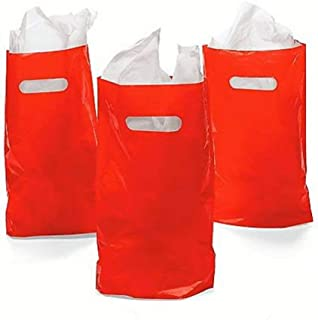 Rhode Island Novelty Red Plastic Bags 50 Count
