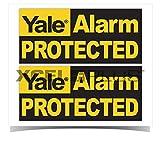Yale HSA3000 - Pegatinas para Ventana de Seguridad con Texto en inglés Yale Alarm Protected