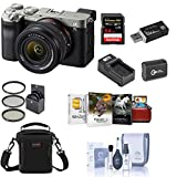 Sony Alpha 7C Mirrorless Digital Camera with FE 28-60mm f/4-5.6 Lens, Silver Bundle with Bag, 64GB SD Card, Extra Battery, Charger, Mini Tripod, Corel Mac Software Suite, Filter Kit and Accessories