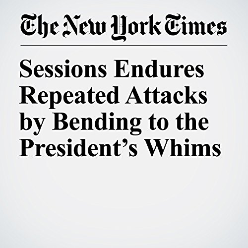 Sessions Endures Repeated Attacks by Bending to the President's Whims copertina