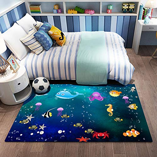 Kids Play Mat Rug for Grawling, Space Themed Slight Mat Education Learning Carpet Funny Niños Área Alfombra para la Sala de Juegos para niños pequeños Decoración de la habitación-image1_60 * 90 cm