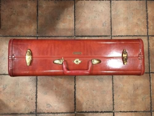 Shwayder Bros Samsonite Luggage Wedding Card Gift Box Hard Shell Vintage Retro