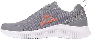 Kappa AUMA Unisex Road Running Shoe, 1629 Grey/Coral, 4 UK