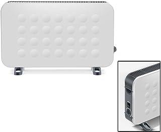 BUKEHANWEI Radiador Bajo Consumo Electrico 2000W, Radiadores Electricos de Pared Convector, Control MecáNico, 3 Modos Calefactor, para Habitaciones y Dormitorios (Color : Blanco)
