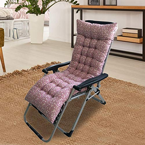 youngfate – Cojín para tumbona de jardín, lavable, cojín para tumbona, silla plegable, cojín para silla de columpio, para interior y exterior, G 48 * 125 * 8 cm