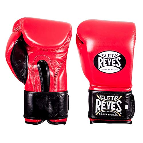 Cleto Reyes Extra Padding Training Gloves for Men and Women (14oz., Classic Red)