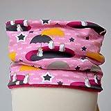 Fleece Loop Schal   kleine Pinguine weiß pink   Mädchen Kinder für 2-3 - 4-5 - 6 Jahre   Halstuch warm gefüttert