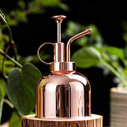 300 ml Retro Gießkanne Vintage Edelstahl Garten Blume Pflanzen Zerstäuber Flasche Garten Topf Bewässerungsgerät für Gartenbau Pflanzen (Kupfer)