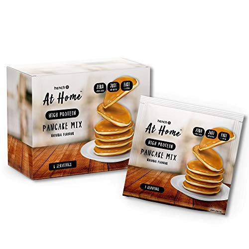 Hench at Home Pancake Mix - High Protein - No Added Sugar - Just Add Water (Natural, 6 x 40g)