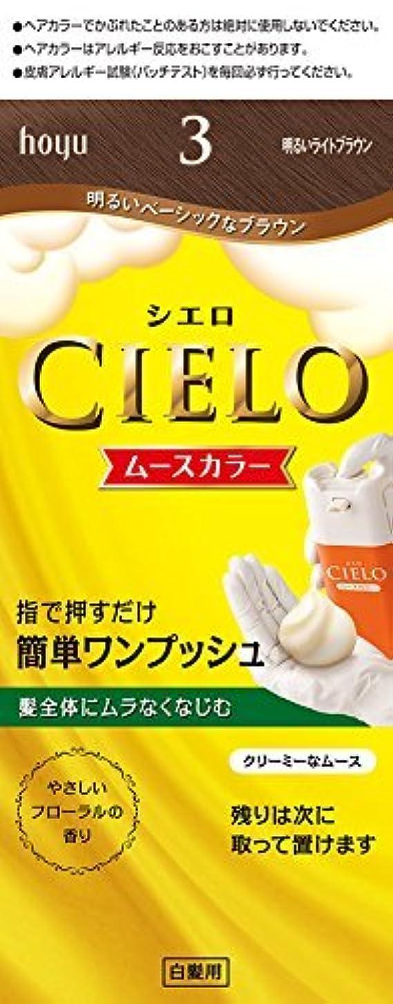集中的な練る優れたホーユー シエロ ムースカラー 3 (明るいライトブラウン)×6個