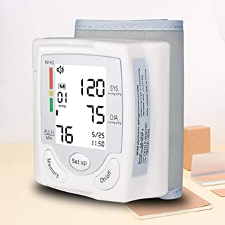 LTLGHY Tensiómetro De Muñeca, Tensiómetro De Brazo Digital con Detección De Arrítmia Y Pantalla Gran Pantalla LCD, 2 Memorias De Usuario(2 * 120)