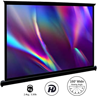 Ekran projektora, GHKJOK przenośny pulpit 100 cm ekran projekcyjny do kina domowego impreza konferencyjna szkoły, łatwy mo...