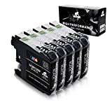 IKONG Compatible Ink Cartridge Replacement for Brother 203 XL Works with Brother MFC-J4320DW MFC-J4420DW MFC-J4620DW MFC-J5520DW MFC-J5720DW MFC-J480DW J485DW J460DW J880DW J680DW J885DW(5 Black)