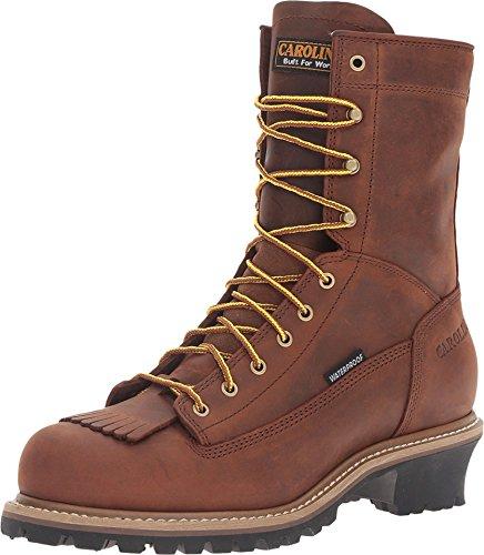 Men's Carolina? Lace to Toe Logger Boots, Copper, 11 [Apparel] Carolina