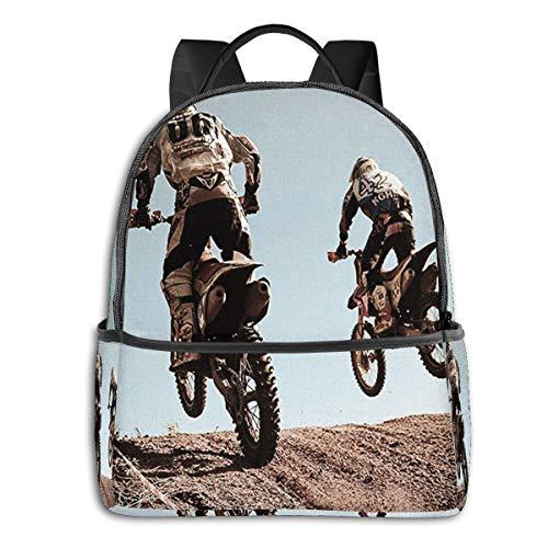 SGSKJ Mochila Tipo Casual Mochila Escolares Mochilas Escolar Estilo Impermeable para Viaje De Ordenador Portátil para Hombre Mujer Motocross Moteros Impresionantes