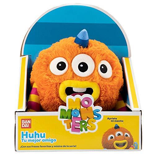 Momonsters Momonsters-AR32000 Huhu-Peluche Musical, Color Naranja (Bandai TO32000)