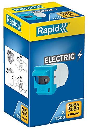 RAPID 23271900 - Cassette grapas 2x1500 para grapadoras eléctricas 5020E y 5025E