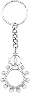Rosemarie Collections Women's Religious Gift Miraculous Medal Rosary Keychain