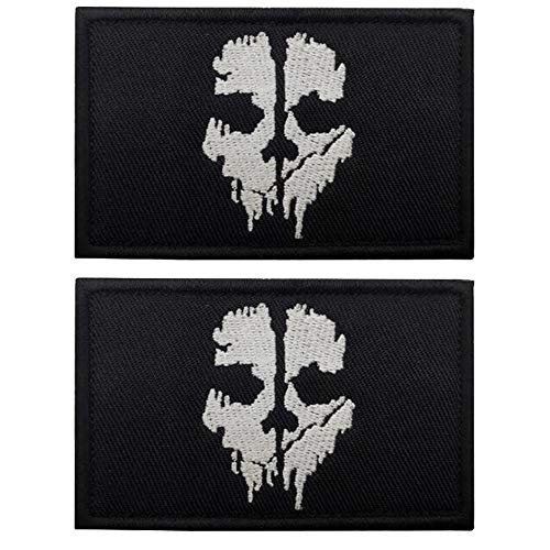 Call of Duty Ghost Skull Patch brodé avec fermeture Velcro