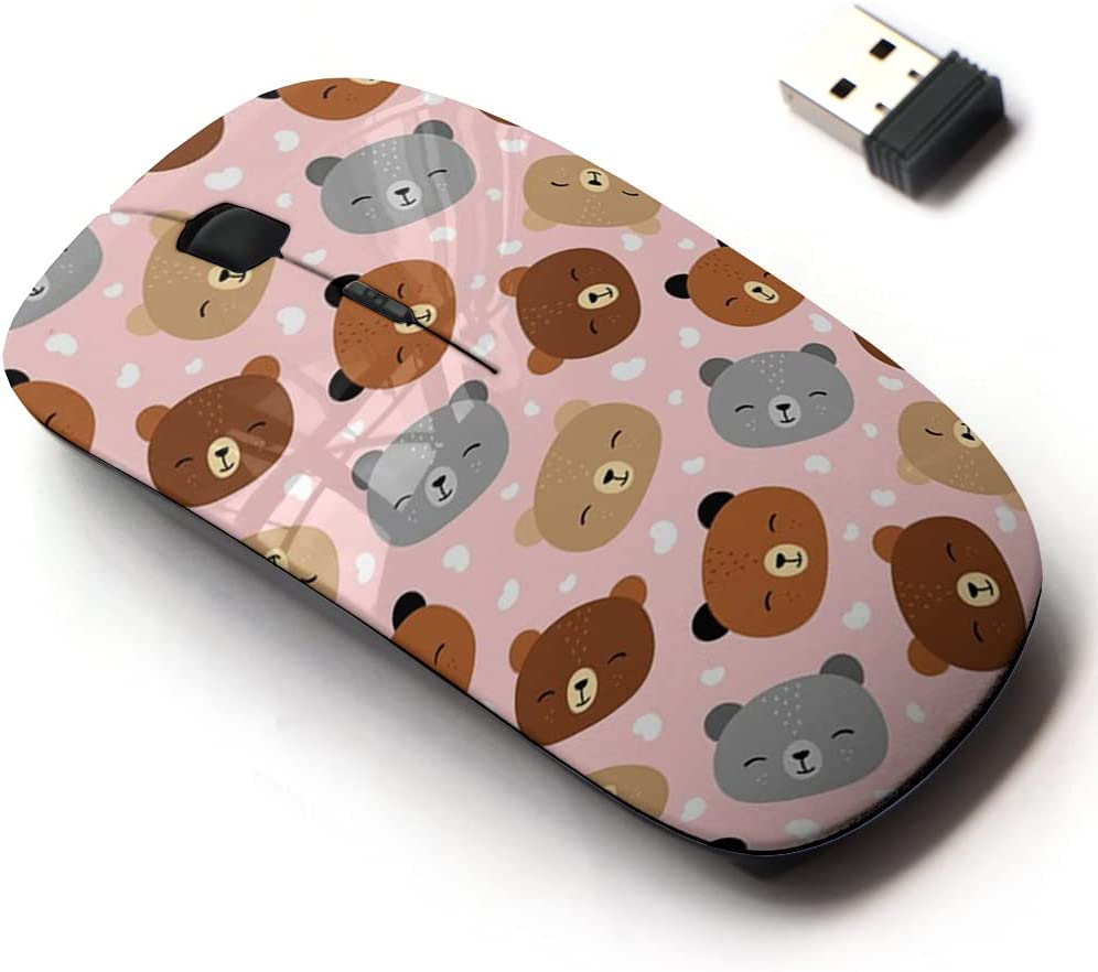 2.4G Wireless Mouse with Cute Pattern Laptops for Superior Design Very popular All and