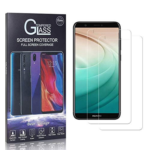 Bear Village® Verre Trempé pour Huawei P Smart, Dureté 9H Protection en Verre Trempé Écran pour Huawei P Smart, Ultra Résistant, 99% Transparent, 2 Pièces