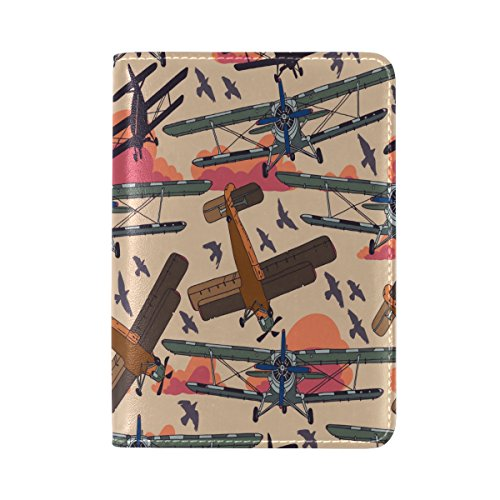 Airplane Waterproof Passport Covers Holder Case Genuine Leather Travel Protector