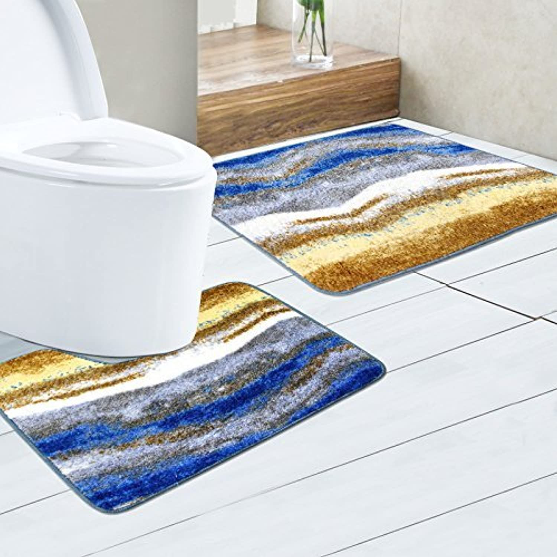 Antiskid Foot pad Combined Floor mat, Bathroom Antiskid Foot pad, Modern Simple Water Absorption Anti-Skid pad,Fresh Big Pollen
