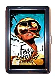 Hunter S. Thompson Fear and Loathing in Las Vegas Gonzo Blue Background Stainless Steel ID or Cigarettes Case (King Size or 100mm)