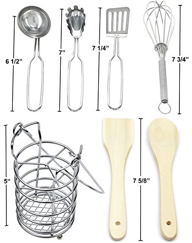 Click N Play 7 Piece Kitchen Cooking Utensils Play Set In Holder.