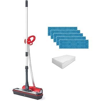 Polti Moppy Red Premium Limpiador Vapor sin Cables, con Extra dotación de paños para Todo Tipo de Suelos y Superficies Verticales Lavables, 1500 W, 0.7 litros, Acero Inoxidable, Rojo: Amazon.es: Hogar