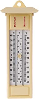 Max Min Thermometer,Indoor Outdoor Garden Greenhouse Wall Temperature Monitor-40 to 50℃/ 120℉