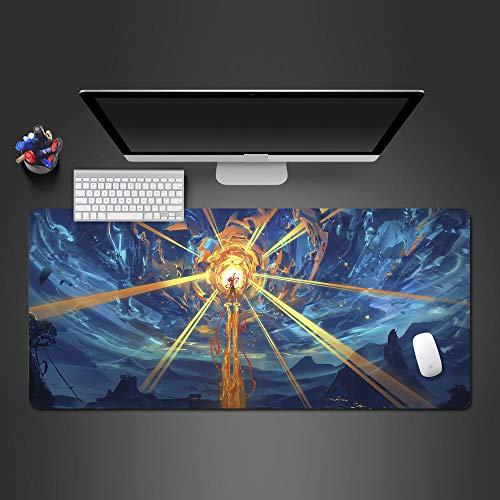 CQDSQN Alfombrilla De Raton XXL 1000 X 500 X 3 mm Creatividad Anime Rayo De Luz Chico Grande XXL Almohadilla para Mouse De Goma Juego para Computadora Tableta Mousepad con Borde Bloqueo De Borde