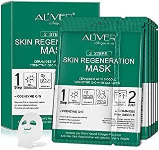 5 Pack Collagen Essence Full Face and Neck Link Facial Mask Sheet - The Ultimate Supreme Collection for Every Skin Conditi...
