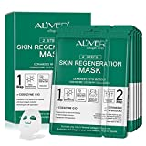 5 Pack Collagen Essence Full Face and Neck Link Facial Mask Sheet - The Ultimate Supreme Collection for Every Skin Condition, Nature made Freshly packed Korean Face Mask (Firming&Anit-ageing)