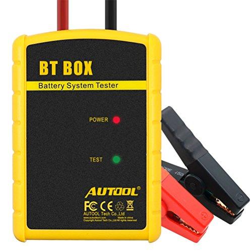 AUTOOL BT-BOX Bluetooth sistema de batería de diagnóstico del coche probador analizador BTBOX inalámbrico de batería auto probadores para IOS/Android sistema de soporte 12 V vehículos