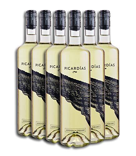 Vino Blanco Dulce - Leyenda del Páramo - Vino Picardias - Caja De 6 botellas De 75 Cl. - Envio en caja protectora de alta resistencia para un transporte 100% seguro