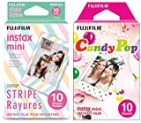 """Product 1: Includes 10-frame, instax Stripe film Product 1: Fun pastel striped frame Product 1: 2"""" x 3"""" credit card sized images in ISO 800 Product 1: Works in all Instax mini style cameras Product 2: Includes 10-frame, instax Candy Pop film Product ..."""